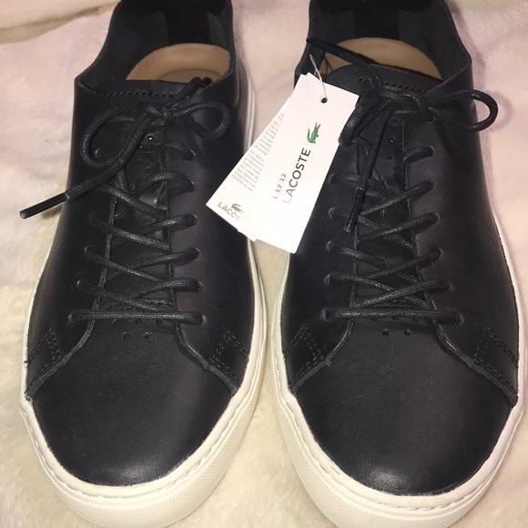 016c8a5d7 Lacoste black leather shoes size 8.5 NWT